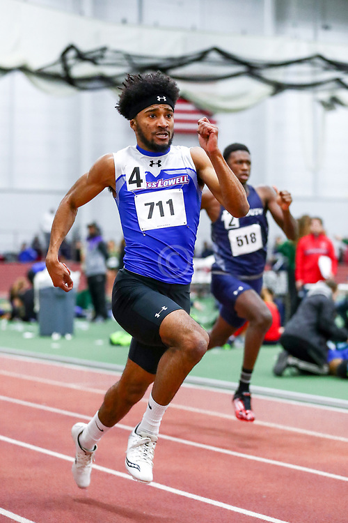 mens 200 meters, UMass Lowell, Brian Cherenfant<br /> Boston University Scarlet and White<br /> Indoor Track & Field, Bruce LeHane