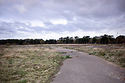 © Licensed to London News Pictures. 22/10/2017. Bawdsey, UK.  disused roads around the site.  RAF Bawdsey, WW2 radar and Cold-War Bloodhound Surface to Air Missile (SAM) base at Bawdsey Ferry, Suffolk, today 22nd October 2017. The base was decommissioned in 1991 leaving behind a deserted base.  Photo credit: Stephen Simpson/LNP