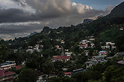 The town of Victoria, the capital of the Seychelles on February 21, 2018.<br /> <br /> The government of Seychelles has created 81,000 square miles of Marine Protected Areas as part of a conservation debt swap deal in an effort to shield marine ecosystems from unsustainable development and climate change while safeguarding its economy.