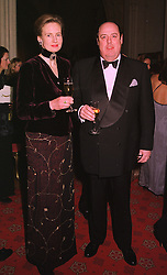 The HON.NICHOLAS SOAMES & MRS SOAMES good friends of HRH The Prince of Wales, at a dinner in Berkshire on 19th November 1998.MME 53