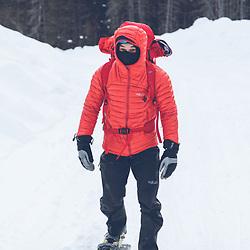 Jeff Mercier approaching Capteur de Reve, Lake Walker, Port-Cartier, Quebec - Rab