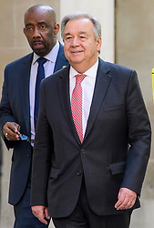 © Licensed to London News Pictures. 10/05/2017. London, UK. UN secretary general Antonio Guterres seen in Westminster, London ahead of a speech at Westminster Hall. . Photo credit: Ben Cawthra/LNP
