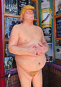 Naked Trump Statue @ Anarchist artist collective INDECLINE placed a naked Donald Trump statue held @ the WACKO shop 4633 Hollywood blvd.<br /> ©Exclusivepix Media