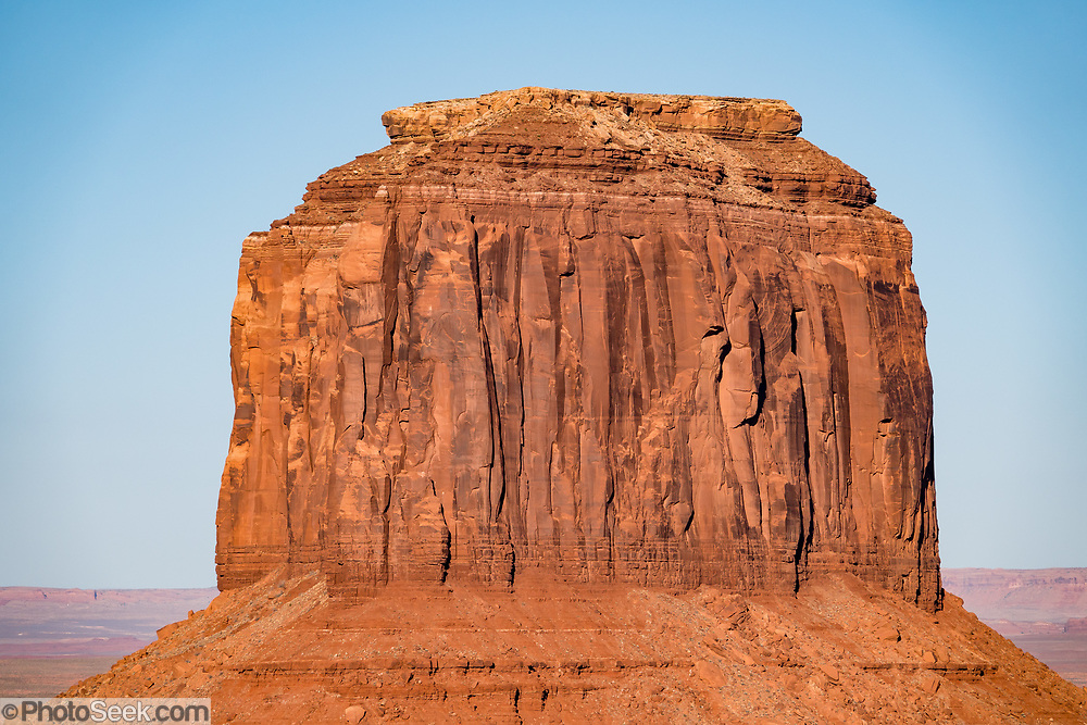 Merrick Butte at sunset in Monument Valley Navajo Tribal Park, Arizona, USA.