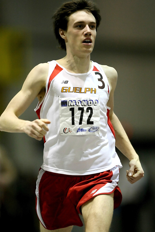 Windsor, Ontario ---14/03/09--- Kyle Boorsma of  the University of Guelph competes in the Men's 1500m Final at the CIS track and field championships in Windsor, Ontario, March 14, 2009..Sean Burges Mundo Sport Images