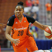 UNCASVILLE, CONNECTICUT- JUNE 3:   Alex Bentley #20 of the Connecticut Sun in action during the Atlanta Dream Vs Connecticut Sun, WNBA regular season game at Mohegan Sun Arena on June 3, 2016 in Uncasville, Connecticut. (Photo by Tim Clayton/Corbis via Getty Images)