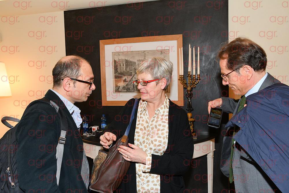 Conferenza stampa per la firma dell'accordo sul nuovo modello di relazioni industriali e sugli assetti della contrattazione. Roma 09-03-2018