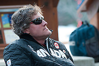Rob Boyd listens to stories at the Whistler Live event during the 2010 Olympic Winter Games in Whistler, BC
