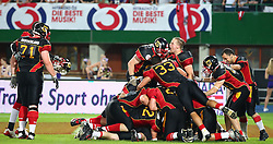 07.06.2014, Ernst Happel Stadion, Wien, AUT, American Football Europameisterschaft 2014, Finale, Oesterreich (AUT) vs Deutschland (GER), im Bild Jubel von Deutschland nach dem Sieg // during the American Football European Championship 2014 final game between Austria and Denmark at the Ernst Happel Stadion, Vienna, Austria on 2014/06/07. EXPA Pictures © 2014, PhotoCredit: EXPA/ Thomas Haumer