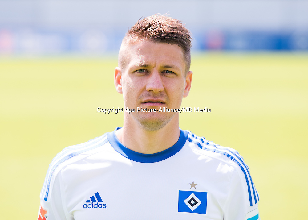 German Soccer Bundesliga 2015/16 - Photocall of Hamburger SV on 15 July 2015 in Hamburg, Germany: Ivo Illicevic