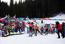 Vetle Sjaastad Christiansen (NOR), Erik Lesser (GER) during the Single Mixed Relay 6 km / 7,5 kmn at day 3 of IBU Biathlon World Cup 2019/20 Pokljuka, on January 23, 2020 in Rudno polje, Pokljuka, Pokljuka, Slovenia. Photo by Peter Podobnik / Sportida