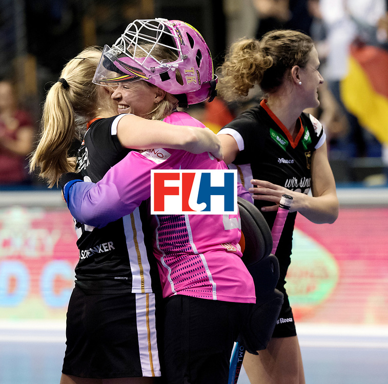 BERLIN - Indoor Hockey World Cup<br /> Quarterfinal 3: Germany - Poland<br /> foto: Germany wins. Julia Ciupka.<br /> WORLDSPORTPICS COPYRIGHT FRANK UIJLENBROEK