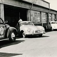 Porsche 356 A coupé (1956-1959), Sale and Service Department at G.K Lindsay Motors Ltd, Johannesburg, South Africa