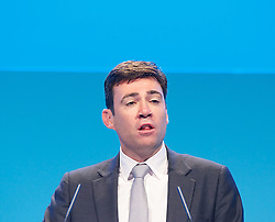 Labour Party Annual Conference 2013. <br /> Andy Burnham MP,  Health & Care<br /> speech during the Labour Party Annual Conference 2013, <br /> Brighton, United Kingdom. Wednesday, 25th September 2013. Picture by Elliot Franks / i-Images