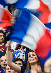 10.06.2016, Stade de France, St. Denis, FRA, UEFA Euro, Frankreich, Frankreich vs Rumaenien, Gruppe A, im Bild Frankreich Fan // France Supporters during Group A match between France and Romania of the UEFA EURO 2016 France at the Stade de France in St. Denis, France on 2016/06/10. EXPA Pictures © 2016, PhotoCredit: EXPA/ JFK