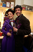 Gavin Lee and Laura Michelle Kelly. Opening night of Mary Poppins at the Prince Edward Theatre and party afterwards at 1 Leicester Sq. 15 December 2004. SUPPLIED FOR ONE-TIME USE ONLY> DO NOT ARCHIVE. © Copyright Photograph by Dafydd Jones 66 Stockwell Park Rd. London SW9 0DA Tel 020 7733 0108 www.dafjones.com