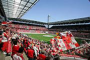11.05.2008, 2.Bundesliga, 33.Spieltag, 1.FC Köln - FSV Mainz 05, Das Kölner RheinEnergie Stadion ist prall gefüllt,  Fans