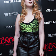 Victoria Clay Arrivers at Once Upon a Time in London - London premiere of the rise and fall of a nationwide criminal empire that paved the way for notorious London gangsters the Kray Twins and the Richardsons at The Troxy 490 Commercial Road, on 15 April 2019, London, UK.
