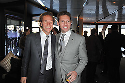 Left to right, DAVE CLARK and NICK CANDY at the launch of One Hyde Park, The Residences at Mandarin Oriental, Knightsbridge, London on 19th January 2011.