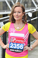 LONDON - April 17: Amanda Mealing at the Virgin London Marathon - Celebrity Photocall (Photo by Brett D. Cove)