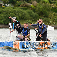 REPRO FREE<br /> Pictured at the RNLI Kinsale Raft Race on the Saturday of the Kinsale Regatta are runners up Moby Quick from Atlantic Offshore Adventures.<br /> Picture. John Allen