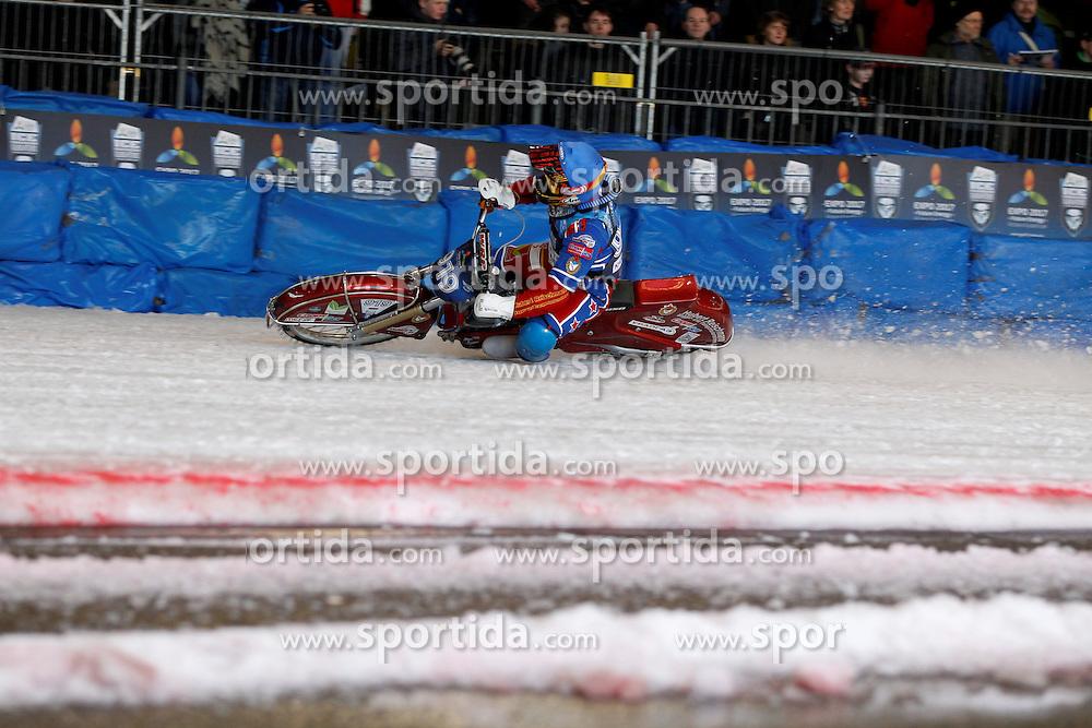 13.03.2016, Assen, BEL, FIM Eisspeedway Gladiators, Assen, im Bild Dmitry Khomitsevich (RUS) // during the Astana Expo FIM Ice Speedway Gladiators World Championship in Assen, Belgium on 2016/03/13. EXPA Pictures © 2016, PhotoCredit: EXPA/ Eibner-Pressefoto/ Stiefel<br /> <br /> *****ATTENTION - OUT of GER*****