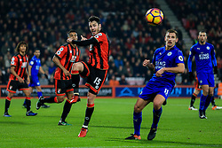 Adam Smith of Bournemouth kicks the ball out under pressure - Mandatory by-line: Jason Brown/JMP - 13/12/2016 - FOOTBALL - Vitality Stadium - London, England - AFC Bournemouth v Leicester City - Premier League