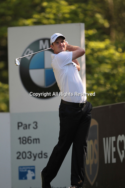25.05.2012 Wentworth, England. Justin Rose (ENG) in action during the BMW PGA Championship, second round.