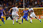 Frankie Amaya (24) of FC Cincinnati looks to take the ball away from Nemanja Nikolic (23) of the Chicago Fire during a MLS soccer game, Saturday, September 21, 2019, in Cincinnati, OH. Chicago tied Cincinnati 0-0. (Jason Whitman/Image of Sport)