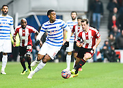 Leroy Fer during the The FA Cup match between Queens Park Rangers and Sheffield Utd at the Loftus Road Stadium, London, England on 4 January 2015. Photo by David Charbit.