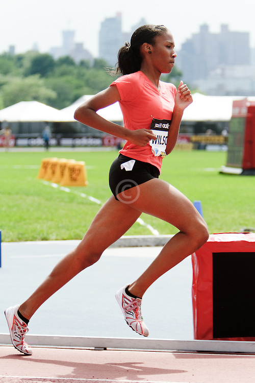 Samsung Diamond League adidas Grand Prix track & field; women's 800 meters, Ajee Wilson, high school runner