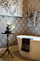 Wine Country<br /> Builder: P.L. Lyons Architectural Builders<br /> Designer: Cherry House Furniture Galleries <br /> Master bathroom