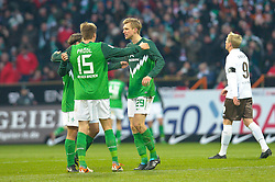 28.11.2010, Weser Stadion, Bremen, GER, 1.FBL, Werder Bremen vs FC St. Pauli im Bild Jubel nach dem 2:0 Torsten Frings ( Werder #22 ) Sebastian Prödl / Proedl ( Werder #15) Per Mertesacker ( Werder #29 )    EXPA Pictures © 2010, PhotoCredit: EXPA/ nph/  Kokenge       ****** out ouf GER ******