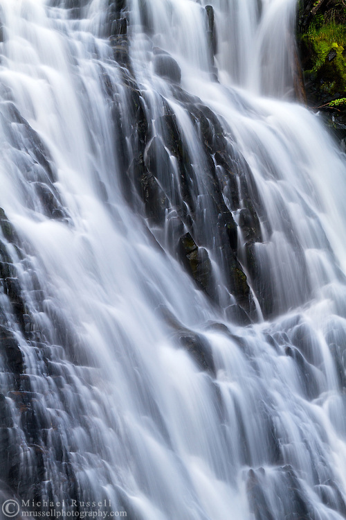 Details of Narada Falls in Mount Rainier National Park, Washington State, USA