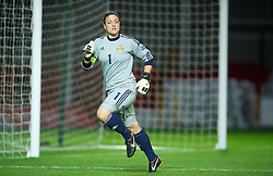 LLANELLI, WALES - Saturday, September 15, 2012: Scotland's goalkeeper Gemma Fay in action against Wales during the UEFA Women's Euro 2013 Qualifying Group 4 match at Parc y Scarlets. (Pic by David Rawcliffe/Propaganda)
