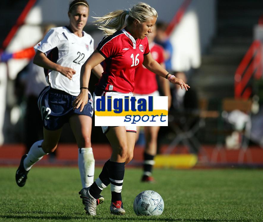 Fotball, 26. juli 2005, U21 damer, Åpent nordisk mesterskap, finale, Norge- USA 1-4, Lene Mykjåland, Norge