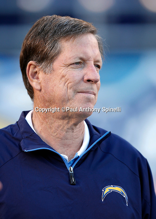 San Diego Chargers head coach Norv Turner looks on during the NFL week 15 football game against the San Francisco 49ers on Thursday, December 16, 2010 in San Diego, California. The Chargers won the game 34-7. (©Paul Anthony Spinelli)