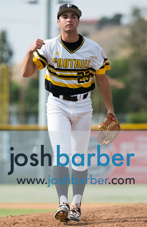 Foothill's Ryan Taurek during a Crestview League game at Foothill High School on Friday, May 5, 2017 in North Tustin, Calif. Foothill won 4-2. (Photo by Josh Barber, Contributing Photographer)