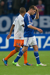 03-10-2012 VOETBAL: UEFA CL FC SCHALKE 04 - MONTPELLIER: GELSENKIRCHEN<br /> Klaas-Jan Huntelaar<br /> ***NETHERLANDS ONLY***<br /> ©2012-FotoHoogendoorn.nl-Kurth