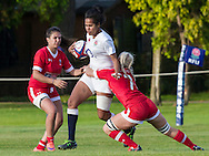 Lagilagi Tuima in action, U20 England Women v U20 Canada Women at Trent College, Derby Road, Long Eaton, England, on 26th August 2016