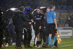 (L-R), coach Jan Olde Riekerink of SC Heerenveen, Ben Rienstra of SC Heerenveen during the Dutch Eredivisie match between Willem II Tilburg and sc Heerenveen at Koning Willem II stadium on December 08, 2018 in Tilburg, The Netherlands
