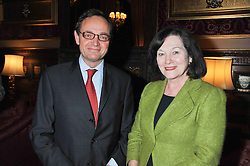 WILL LAWES and JOAN RUDDOCK MP at a reception for the Stephen Lawrence Charitable Trust hosted by the Speaker of The House of Commons John Bercow and supported by law firm Freshfields Bruckhaus Deringer in The State Rooms, Speaker's House, the House of Commons, London on 19th December 2012.