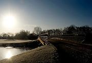Eton, Great Britain, GB Junior Rowing, invitational training session at Eton Rowing Centre, Dorney Lake, Berkshire, England, Sunday, 07/12/2008. [Mandatory Credit: © Peter Spurrier/Intersport Images]. Rowing Courses, Dorney Lake, Eton. ENGLAND , Sunrise, Sunsets, Silhouettes