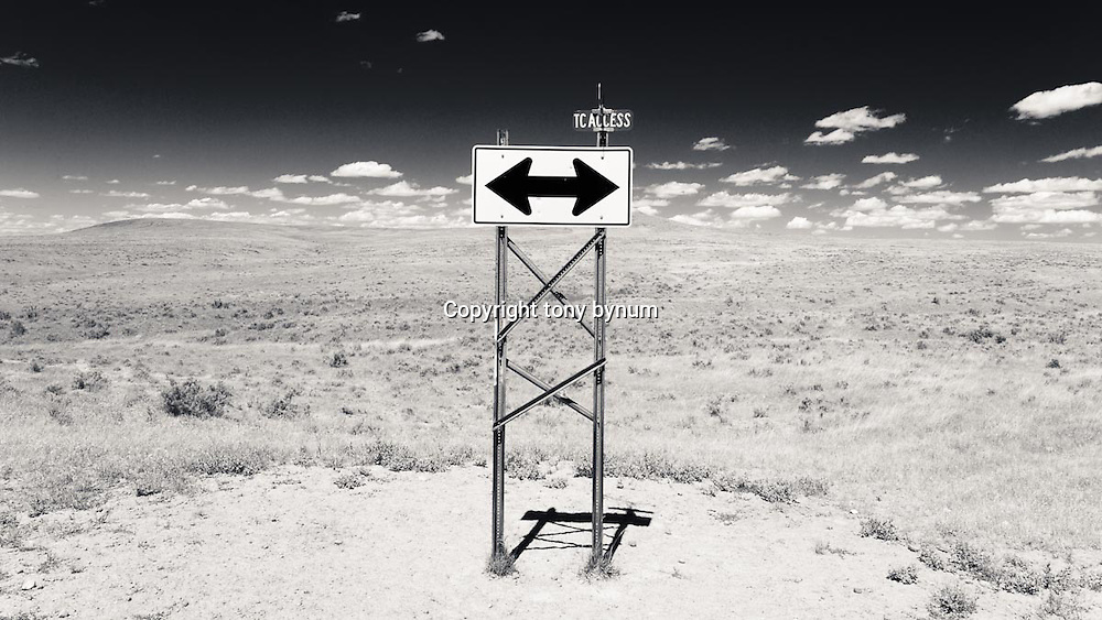 road sign in prairie