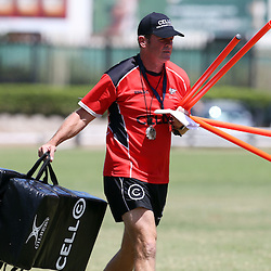 DURBAN, SOUTH AFRICA - JANUARY 26: Sean Everitt (Assistant Coach) during the Cell C Sharks training session at Growthpoint Kings Park on January 26, 2015 in Durban, South Africa. (Photo by Steve Haag/Gallo Images)