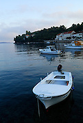 Boats in harbour, Racisce, island of Korcula, Croatia.