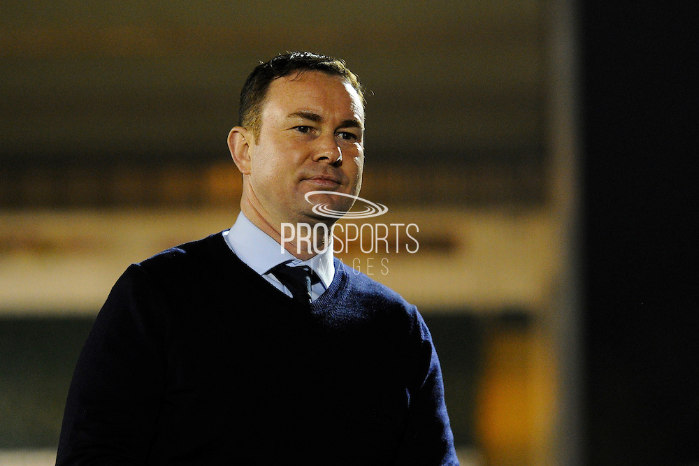 Plymouth Argyle manager Derek Adams before the EFL Sky Bet League 2 match between Plymouth Argyle and Leyton Orient at Home Park, Plymouth, England on 14 February 2017. Photo by Graham Hunt.