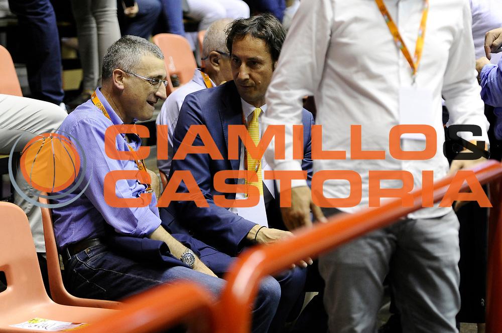 DESCRIZIONE : Forli DNB Final Four 2014-15 Npc Rieti BCC Agropoli<br /> GIOCATORE : Pietro Basciano Claudio Coldebella<br /> CATEGORIA : vip<br /> SQUADRA : <br /> EVENTO : Campionato Serie B 2014-15<br /> GARA : Npc Rieti BCC Agropoli<br /> DATA : 13/06/2015<br /> SPORT : Pallacanestro <br /> AUTORE : Agenzia Ciamillo-Castoria/M.Marchi<br /> Galleria : Serie B 2014-2015 <br /> Fotonotizia : Forli DNB Final Four 2014-15 Npc Rieti BCC Agropoli