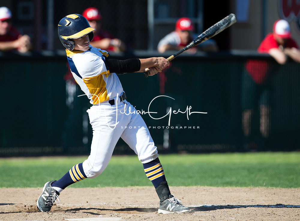 (Photograph by Bill Gerth 4/20/17) Lincoln vs Westmont in a BVAL Baseball Game at Westmont High School, Campbell CA on 4/20/17