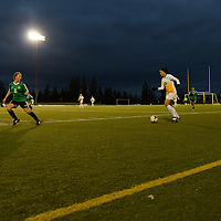 4th year midfielder Shayla Kapila (13) of the Regina Cougars in action during the Women's Soccer home game on October 7 at U of R Field. Credit: Arthur Ward/Arthur Images